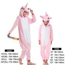 de6f82b59d80b Enfants licorne Pijama adulte hiver Pyjama vêtements de nuit pour les  femmes garçons dessin animé Homewear