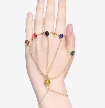 Avengers 4 Infinite War Thanos Finger Bracelet Unlimited Stone Mens and Womens Noble Jewelry Accessories