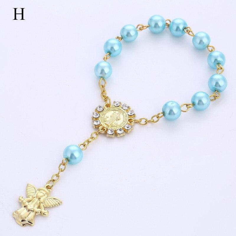 10pcs Baby shower favor Christening bracelet angel baby shower girl boy baptism gift giveaway souvenir