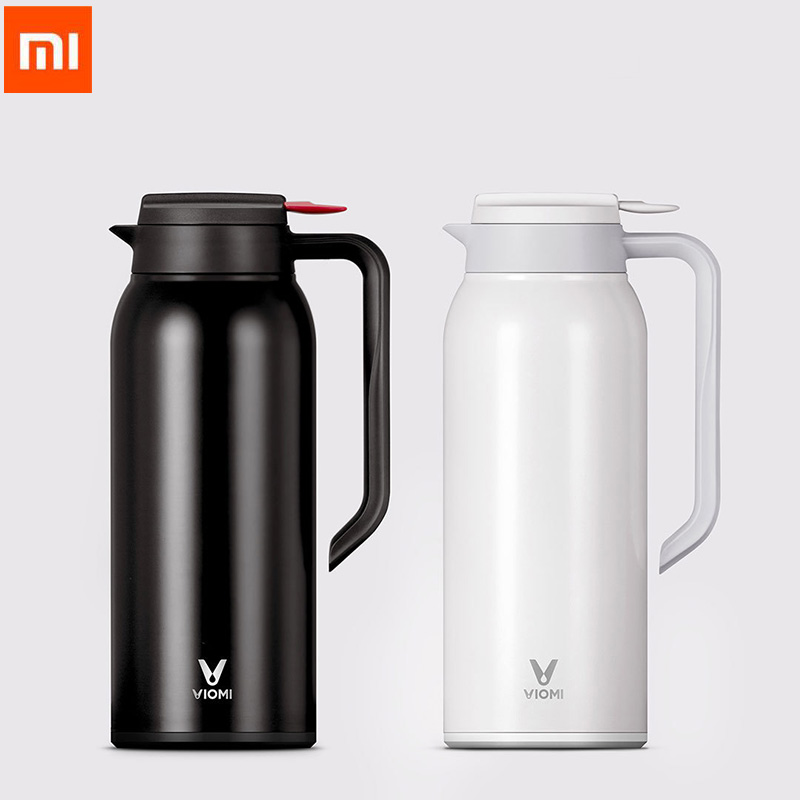 Original Xiaomi VIOMI Thermo Mug 1.5L Stainless Steel Vacuum Cup 24 Hours Flask Water Bottle Cup for Baby Outdoor For Smart home stainless steel insulated vacuum mug silver 350ml