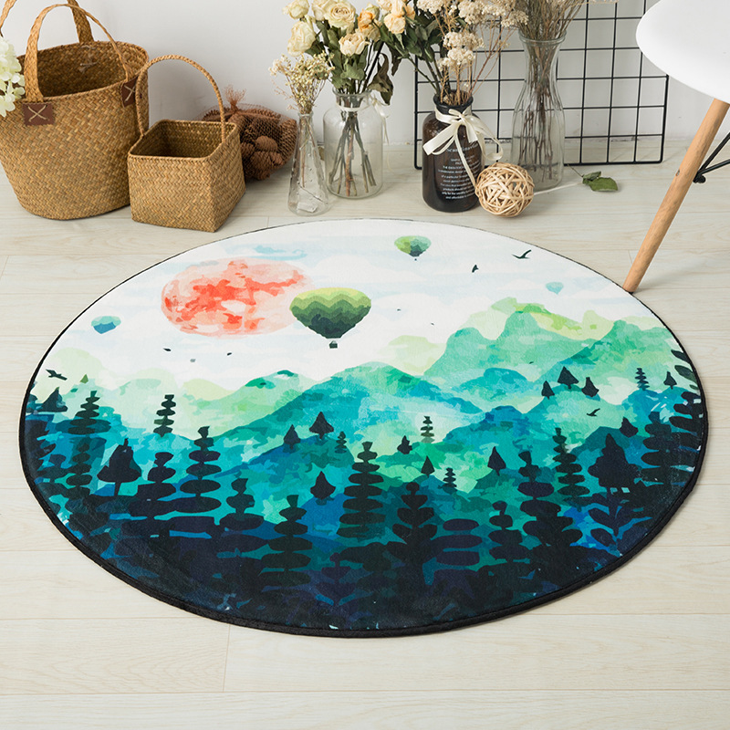 Activity & Gear Mother & Kids 120cm Kids Play Game Mats Round Carpet Rugs Mat Cotton Hairball Crawling Blanket Floor Carpet Toys Ins Room Decoration Products Are Sold Without Limitations