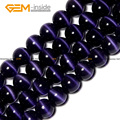 Round Cat Eye Dark Blue Glass Beads For Jewelry Making 4-12mm 15inches DIY Jewellery Free Shipping Wholesale Gem-inside
