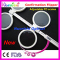 New Adjustable PD Ophthalmic Plastic Confirmation Flipper Test E04-2510 Free Shipping