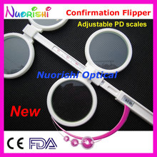 New Adjustable PD Ophthalmic Plastic Confirmation Flipper Test E04 2510 Free Shipping