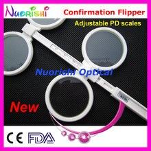 Nova Ajustável PD Oftálmica Flipper Confirmação de Plástico Teste E04 2510 Frete Grátis