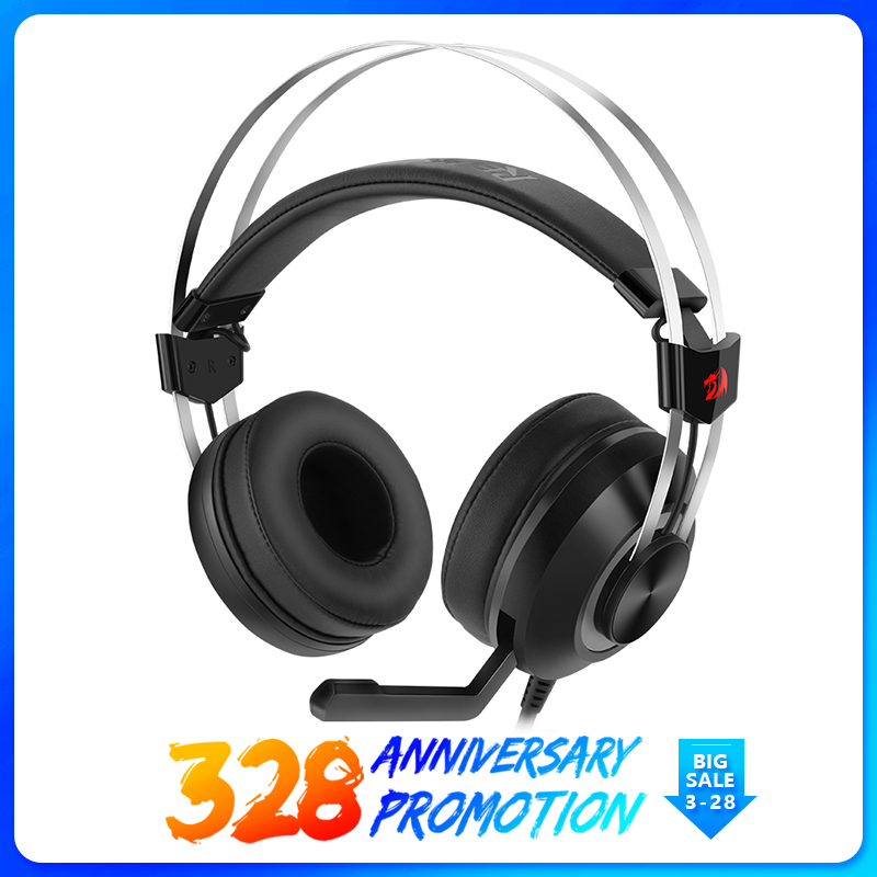 Redragon 7.1 Channel Virtual USB Surround Sound Gaming Headphones Heads