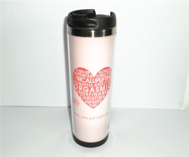 new define love pink coffee mug stainless steel cup water cup tea