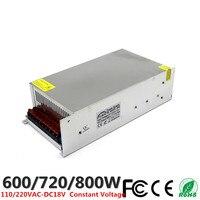 DC 18V 33A 600W 40A 720W 44.4A 800W LED Driver Switching Power Supply 110V 220V AC DC Constant Voltage Transformer CCTV CNC