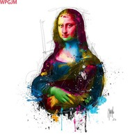 Mona Lisa Abstract oil Paintings unframed canvas Hand Painted decorative Pictures wall Art canvas Art.