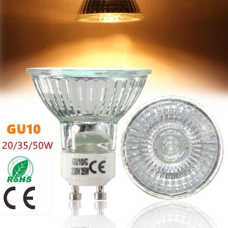 GU10 20W 35W 50W High Bright Warm White 2800K Halogen Lamp High Luminous Efficiency For Home Light Bulbs AC220-240V