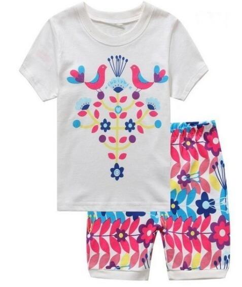 57f277e1f5ef Aliexpress.com   Buy baby kids Pajamas Set summer children Short ...