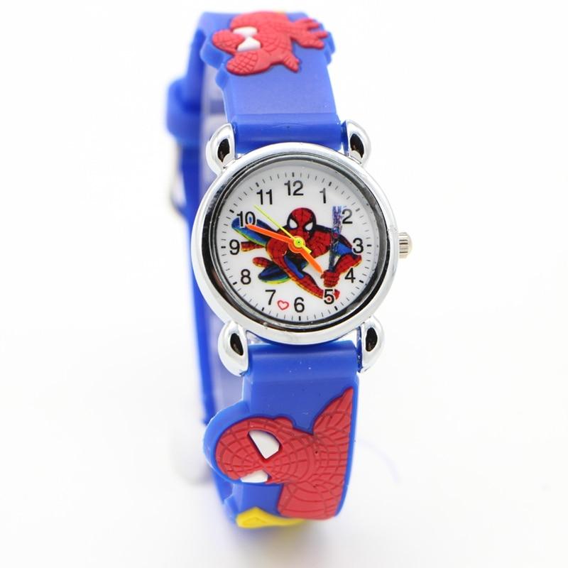 Free Shipping 1pcs 3D Cartoon Spider-Man SpiderMan Doll Kids Watch Children Kids Girls Boys Students Quartz Wristwatches.