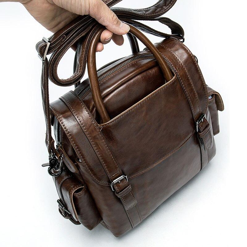 Women Backpack Genuine Leather Quality Laptop Backpacks For Teenage Girls Casual Travel School Shoulder Bag Backpack Mochila