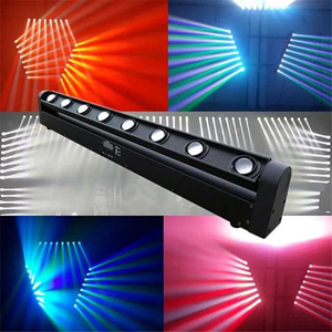 Image 5 - 2 개/몫 빠른 배송 완벽 한 간단한 이동 머리 빛 LED 바 빔 8 밴드 DJ 나이트 클럽 LED 바 8x12W 4 1 RGBW