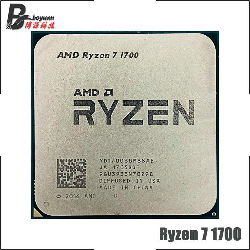 AMD Ryzen 7 1700 R7 1700 3.0 GHz Eight-Core Sixteen-Thread CPU Processor YD1700BBM88AE Socket AM4