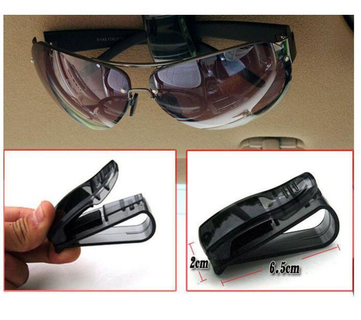 Briļļu brilles Biļešu turētāja klips VW Benz BMW automātiskajam stiprinājumam Cip auto aksesuāri ABS automašīnu saules aizsargs DQ-053