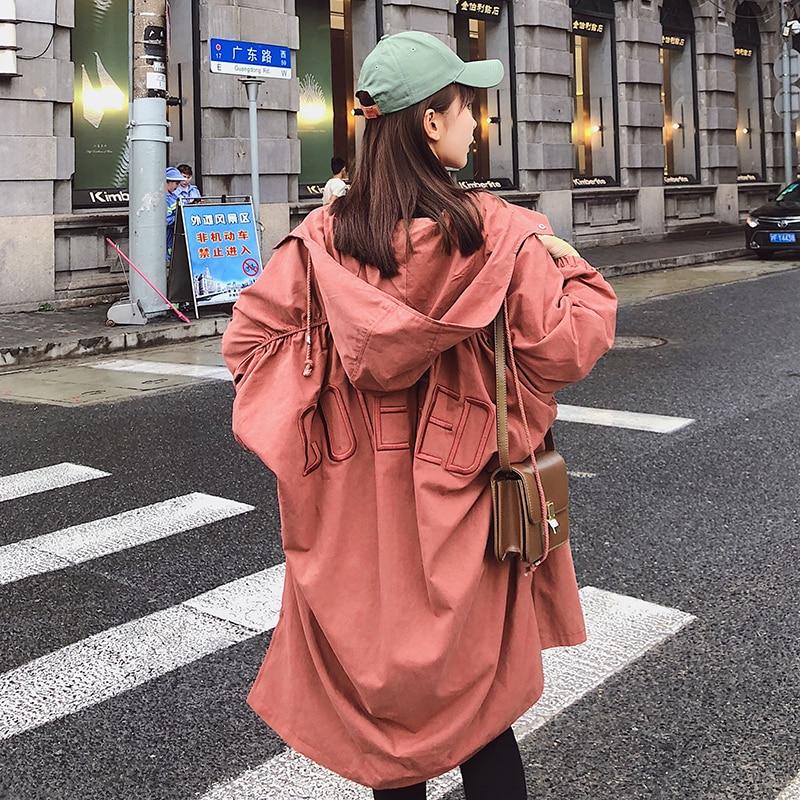 green black Taille La Style Rust Preppy Hiver Conception Apricot Manteau Femmes Femelle Nouvel Automne Plus Haute De À 2018 Capuche Coupe Longue red vent Pengpious Nice BwqWa4pnx