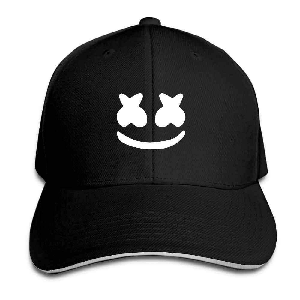 ecba1631836 Unisex Baseball Cap Marshmello Face Mens Womens Cap Fashion Baseball Caps  Adjustable Snapback Caps Hats Man