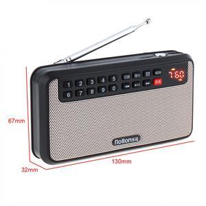 Image 3 - Rolton T60 المحمولة TF بطاقة USB صغير FM سماعات راديو صغيرة تعمل لاسلكيًا مع شاشة LED مضخم صوت مشغل موسيقى MP3/مصباح الشعلة/التحقق من المال