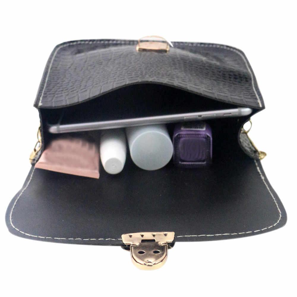 Sacchetti delle donne 2018 Piccolo Giorno Della Frizione Catena D'oro Ragazze Borsa con tracolla Signore Di Modo Coccodrillo Flap Bag Designer Handbags3.06