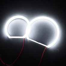 4pcs LED Cotton Angel Eyes Ultra bright SMD White LED Halo Half Rings For BMW E46 Compact(2000-2010) E83/X3(2x131mm+2x106mm) цена в Москве и Питере