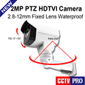 New Model 1080P Full-HD TVI Bullet PTZ Camera 2MP 50m IR Night Vision IP66 Outdoor CCTV Mini PTZ Camera Security