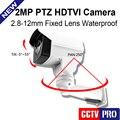 Nuevo Modelo 1080 P Full-hd Bala TVI Cámara PTZ 2MP 50 m IR de Visión Nocturna CCTV IP66 Al Aire Libre Mini PTZ de Cámaras de Seguridad