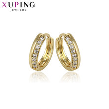 Xuping Fashion Noble Earrings With Synthetic Cubic Zirconia Copper Jewelry for Women Christmas Gifts S55.3-93074(China)