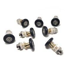 8pcs Eccentric Wheel Shower Door Rollers Runners Wheels Pulley 23mm /25mm in Diameter