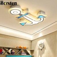 Творческий Якорь Дизайн 32 W светодиодный Потолочные светильники Акриловые Регулируемый потолочный светильник для маленьких спальня детск