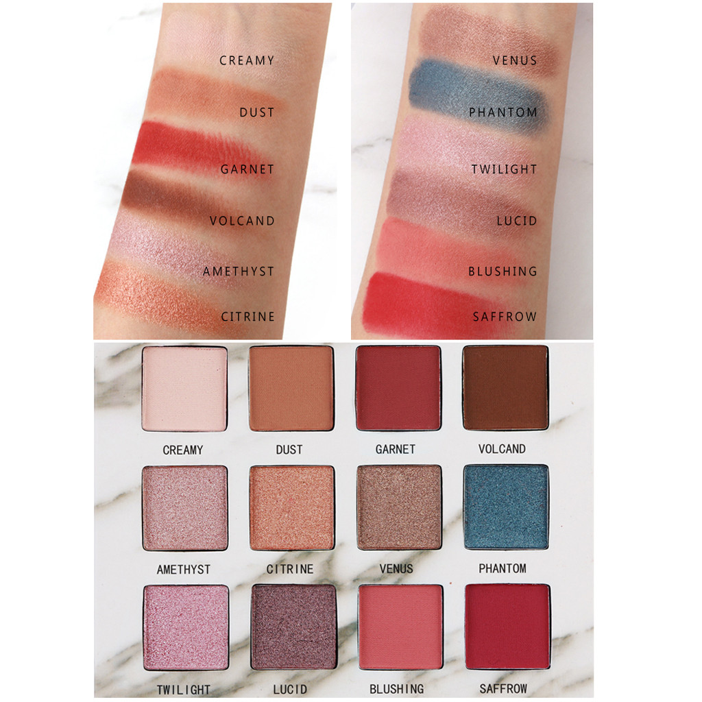 Beauty & Health New Hot Popular 12 Color Marble Eyeshadow Palette Professional Fashion Makeup Eye Shadow Palette Cosmetic Set Eye Shadow Beauty Eye Shadow