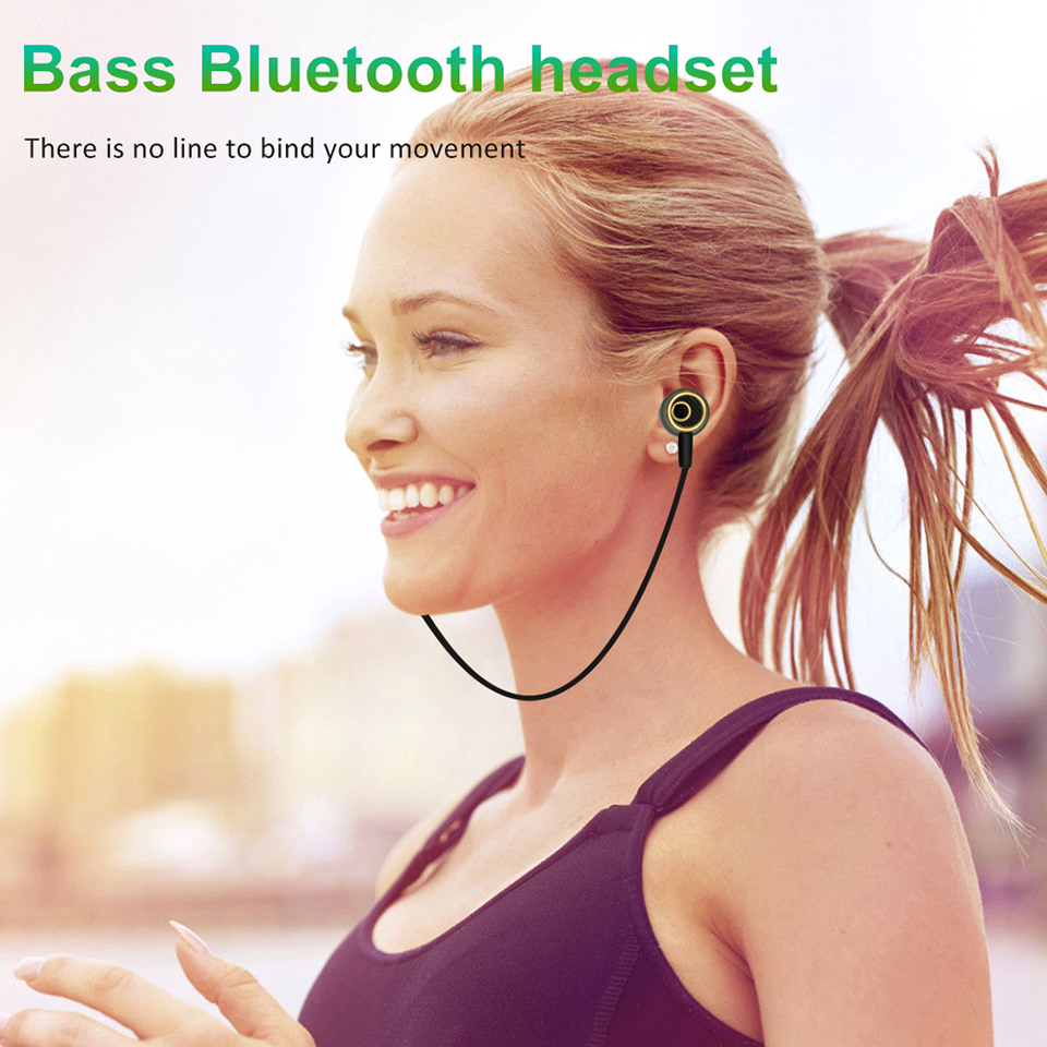 Bluetooth Earphone With Mic Wireless Magnet Earphones Sport Running Headset For Phone Android Xiaomi Smartphone LZ001 fashion men women outdoor running sport wireless bluetooth headband with mic smart music electronics knit hair band for phone