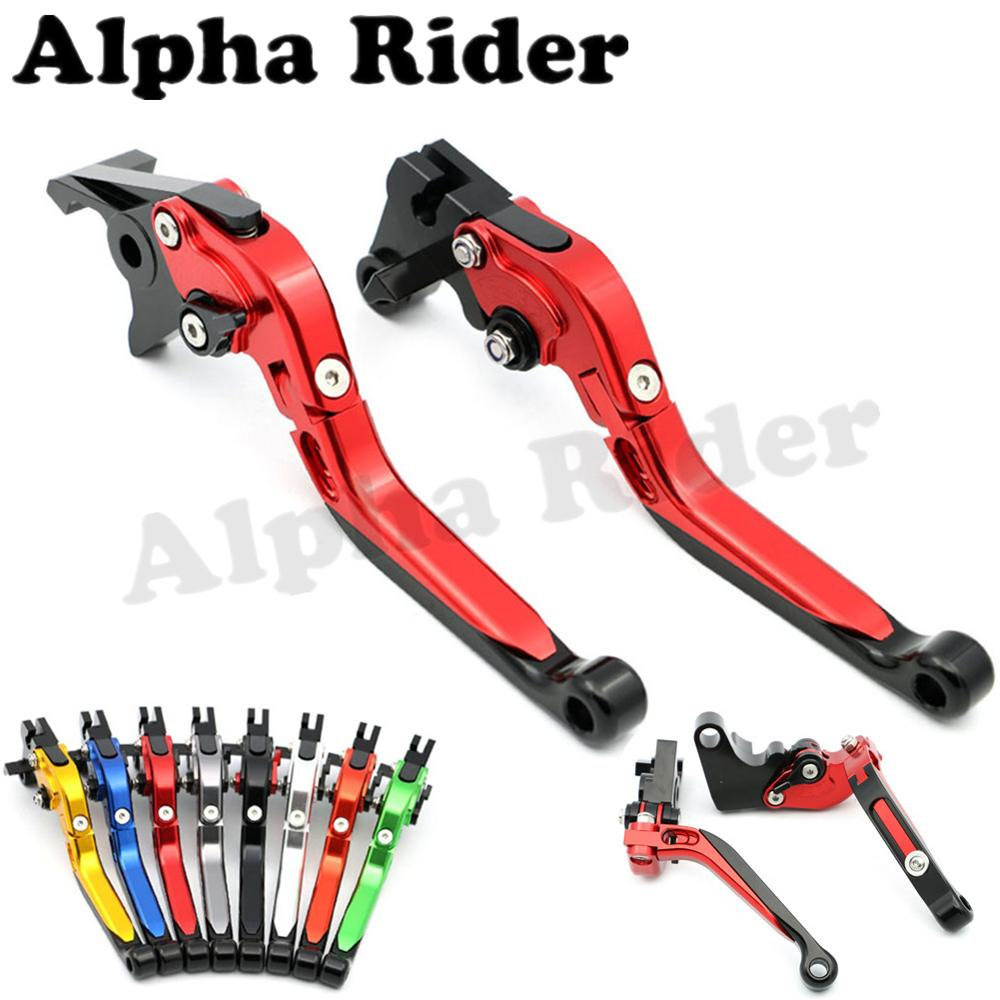 Motorcycle Adjustable CNC Brake Clutch Levers Folding Extendable for Kawasaki NINJA ZX 6R 636 6RR 9R 10R 12R Z800 E Version ER6N kawasaki zx 6r 636 zx 10r 12r 9r gtr1400 изменение рука дроссельной ручки резиновый рукав