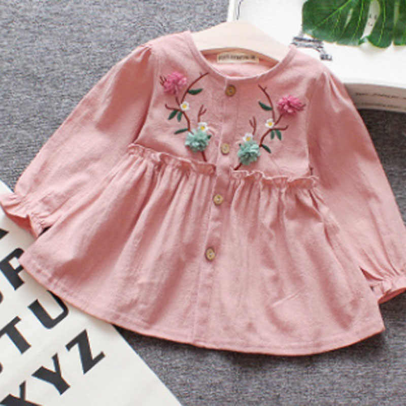 2019 Baby Girl summer embroidery Floral Flower Princess  Party Pageant Tutu Dress for Kid clothes toddler Children newborn