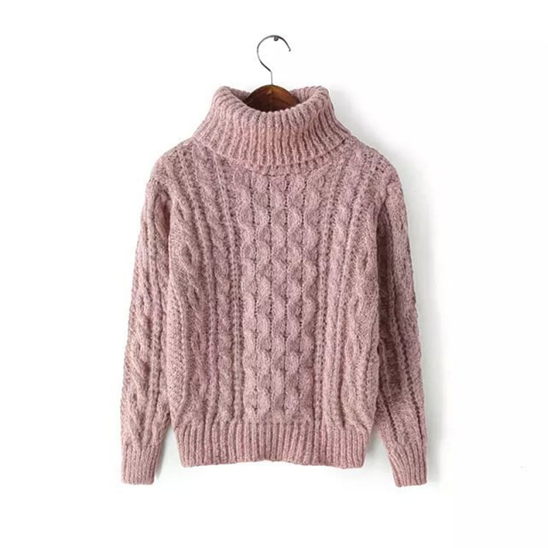 Women's Turtleneck Pullover 2019 Autumn Sweaters Women Casual Knitted O-Neck Striped Femme Women Sweaters