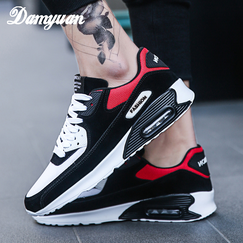 Damyuan 2019 New Fashion Shoes Men Women Breathable Comfortable Running Sneakers Lace up Breathable Non leather