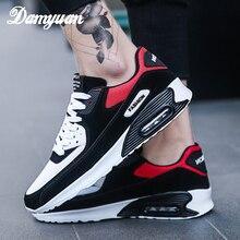 Damyuan/2019 г. Новая модная обувь для мужчин и женщин, дышащие удобные кроссовки для бега, на шнуровке, дышащие, не кожаные, повседневная обувь