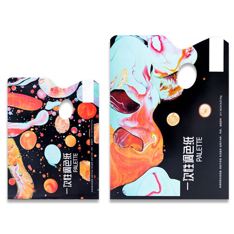 Painting Material Paper Disposable Washable Color Palette 36 Sheets Of Color Paper Gouache Acrylic Toning