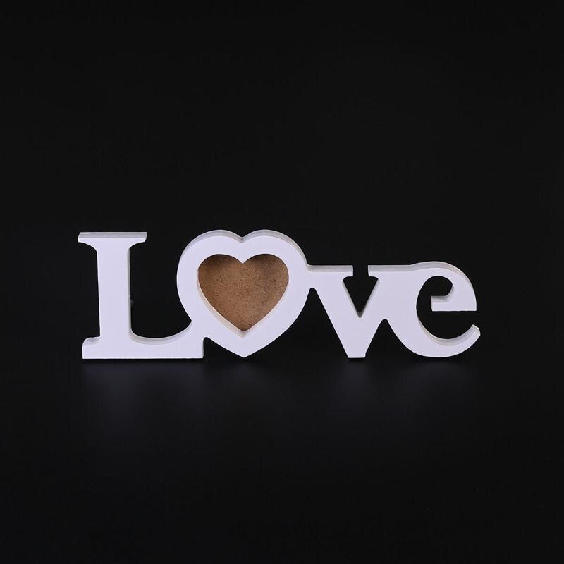 3 pulgadas amor diseño DIY boda Marcos madera monograma foto Marcos ...