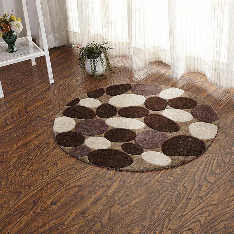 90cm round cobblestone doormat home entrance area rug antislip bathroom carpet cloakroom floor mat