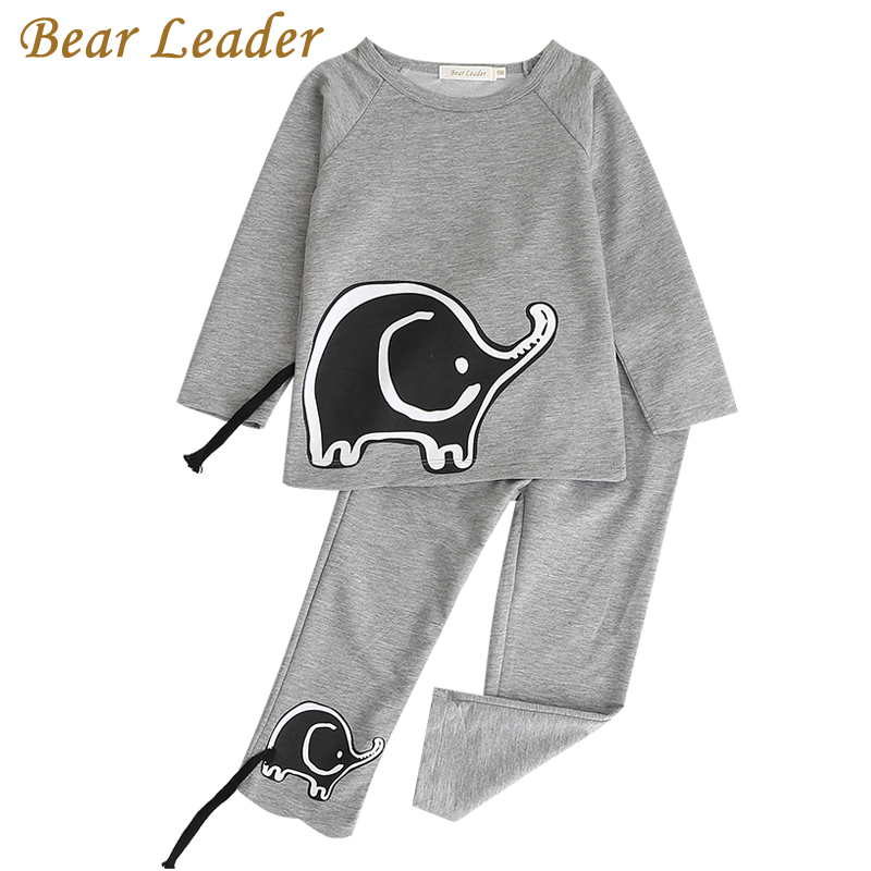 Bear Leader Girls Boys Clothing Sets 2018 New Autunm Sets Children Clothing Elephant Appliques Design Sweatshirts+Pants Suit