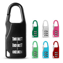 Hot Sale locks New Resettable 3 Digit Combination Save Travel Luggage Suitcase Code Lock Black Backpack lock 7 colors wholesale(China)