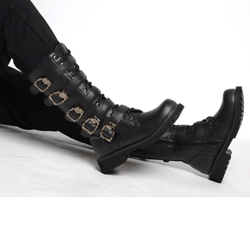 Botas Do Black Motocicleta Qualidade Homens Increased Alta Casuais Masculinas Moda Marca 37 Chegada Sapatos 45 Punk black Nova Personalidade Tamanho De top Alta 8qnAw0R