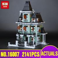 Neue LEPIN 16007 2141 Stücke Monster kämpfer Die spukhaus Modell set Educational Building Kits Modell Kompatibel Mit spielzeug 10228