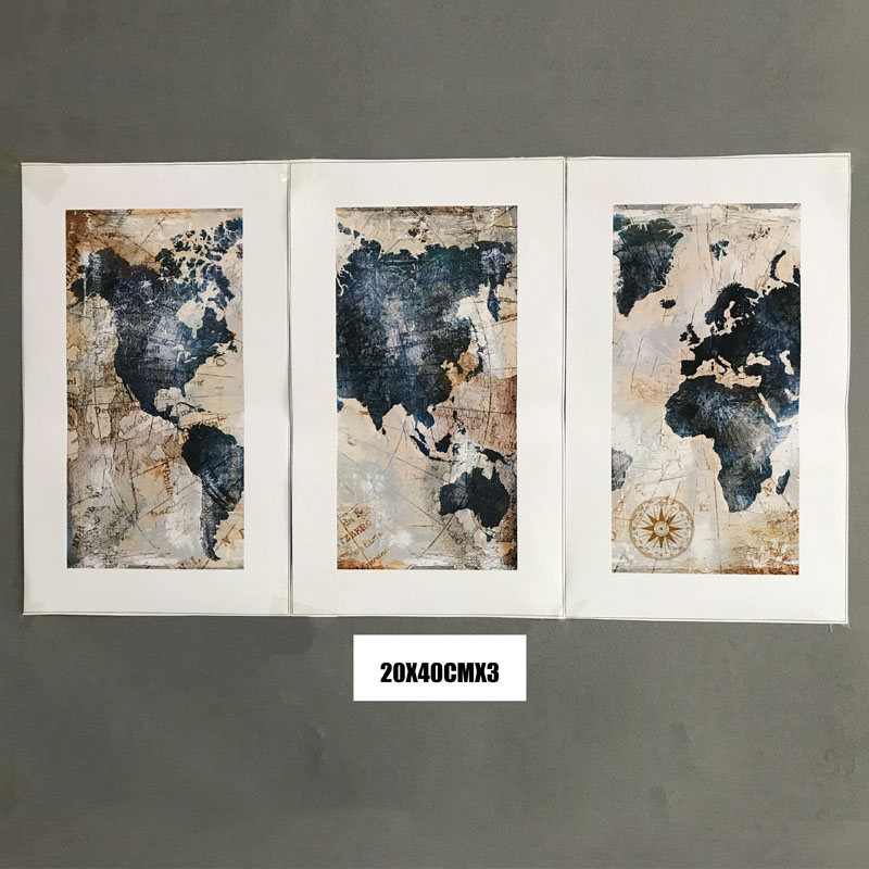 HTB1Dlofbr1YBuNjSszhq6AUsFXaT 3Panel Watercolor World Map Modular Painting Posters and Prints on Canvas Scandinavian Cuadros Wall Art Picture For Living Room