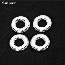 Sansour New 4pcs ABS Chrome Car Door Lock Ring Cover For Jeep Liberty Compass 2011-2015 Accessories
