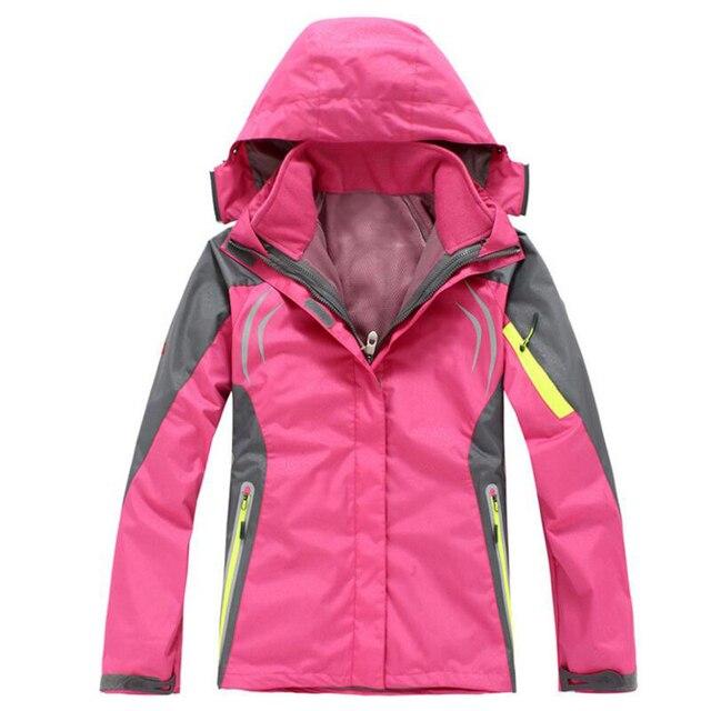 Manteau impermeable chaud femme