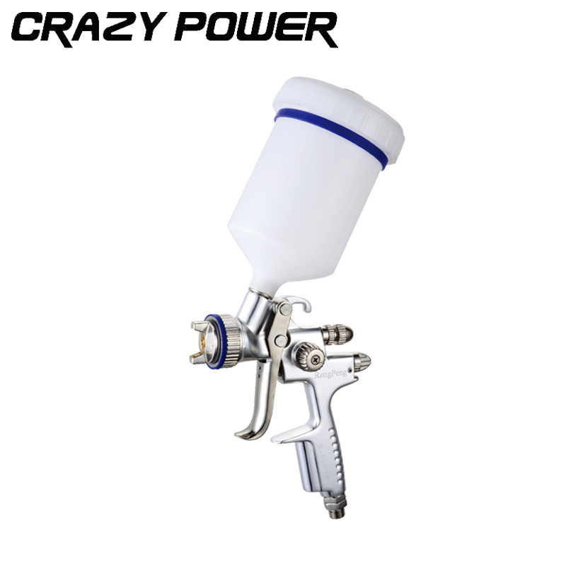 CRAZY POWER 600ml Pneumatic professional Spray Gun 1.3MM Nozzle HVLP Spray Gun Air Paint Spray Gun Airbrush For Painting Car vogue fluffy natural wave charming centre parting long lace front human hair wig for women