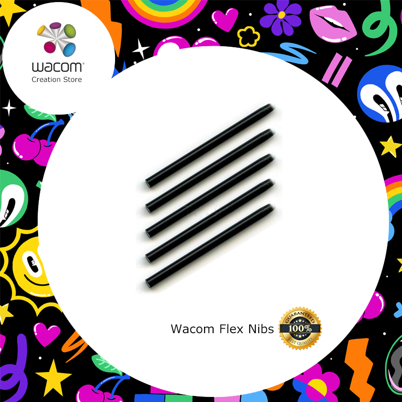 Wacom Flex Nibs for Intuos, Bamboo, Cintiq Classic, Cintiq Grip, Graphire Tablet Stylus Pen (ACK-20004)