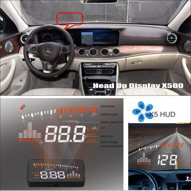 ФОТО Car HUD Head Up Display For Benz E Class W212 W207 - Safe Driving Screen Projector Refkecting Windshield